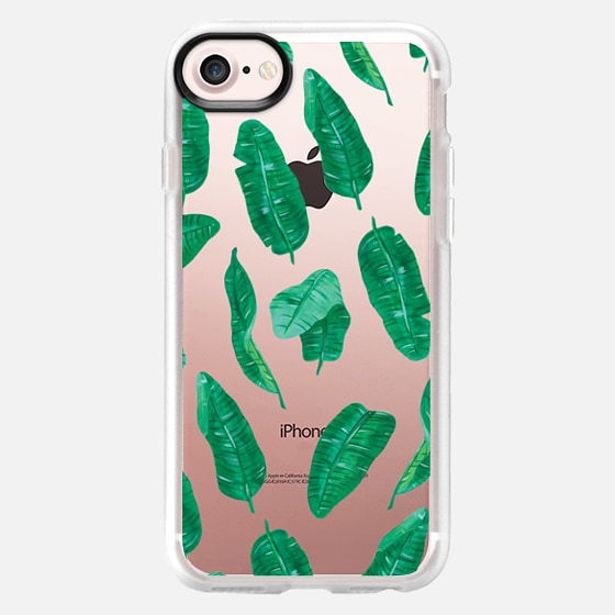 summer bananas palm leaves pattern - Classic Grip Case