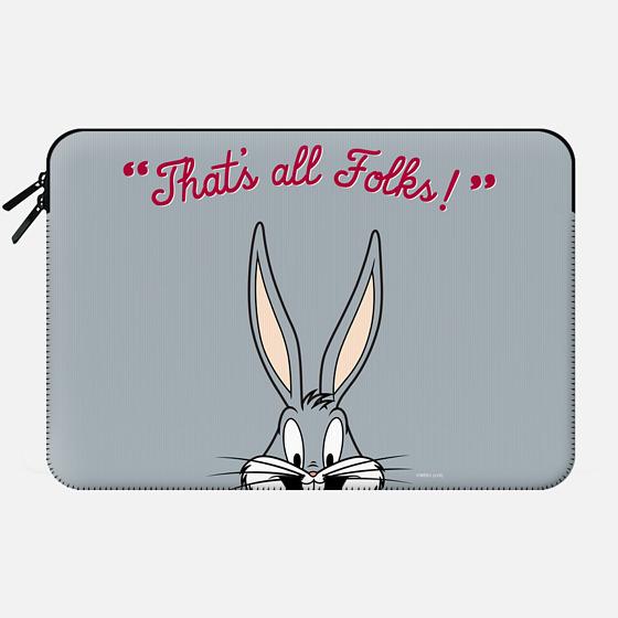 That's All Folks - Bugs Bunny Macbook Sleeve - Macbook Sleeve