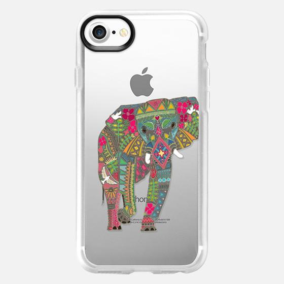 painted elephant transparent S4 - Wallet Case