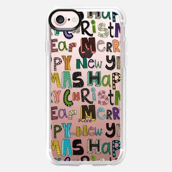 merry christmas happy new year transparent - Wallet Case