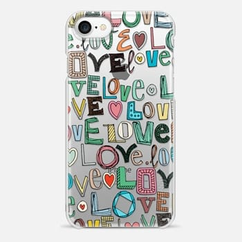 iPhone 7 Case l o v e LOVE transparent