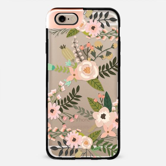 Peachy Pink Florals - Trasparent -