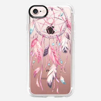 iPhone 7 Case Watercolor Pink Dreamcatcher Feather Dream Catcher