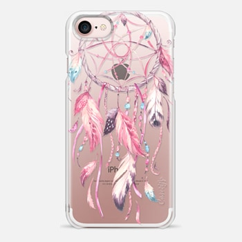 iPhone 7 ケース Watercolor Pink Dreamcatcher Feather Dream Catcher