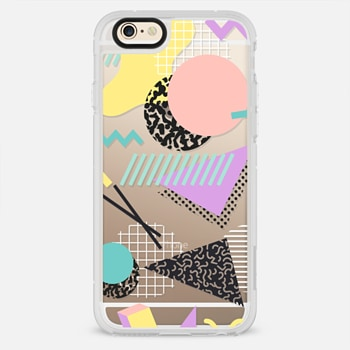 iPhone 6 Case Pastel Geometric Memphis Pattern