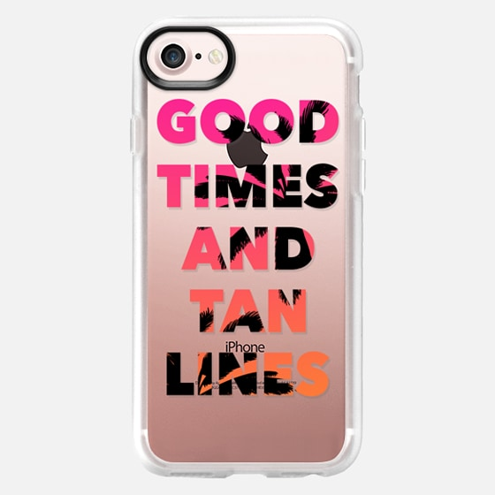 Good Times and Tan Lines - Pink Orange Ombre Palm Trees - Wallet Case