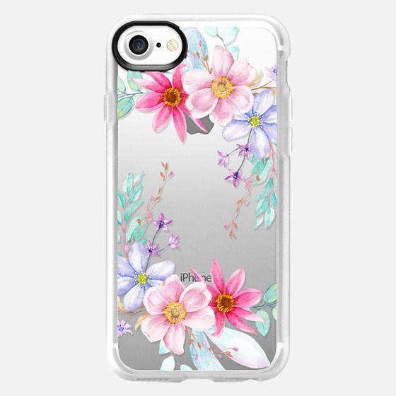 Pastel Floral Watercolor Flower Crown - Classic Grip Case