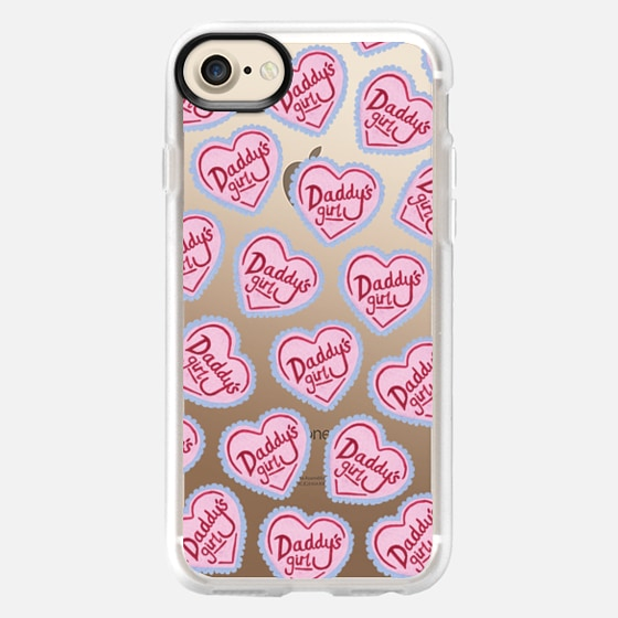Daddy's Girl Pink Heart Spoilt  Cute Scattered -