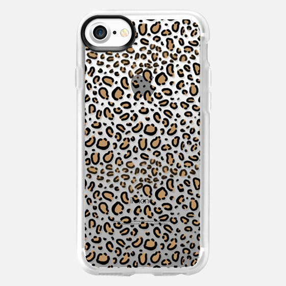 Transparent Cheetah animal print cell phone case - Wallet Case