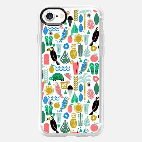 Tropical summer vacation cell phone case accessory island hawaii beach life - Wallet Case