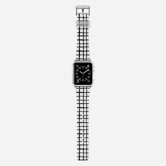 Cool grid modern black and white minimal city urban apple watch band design custom -