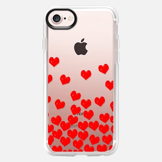 Bright Red love valentines day gifts for him or her transparent cell phone case -