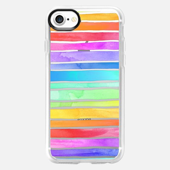 Crystal Rainbow Watercolor Stripes - Wallet Case