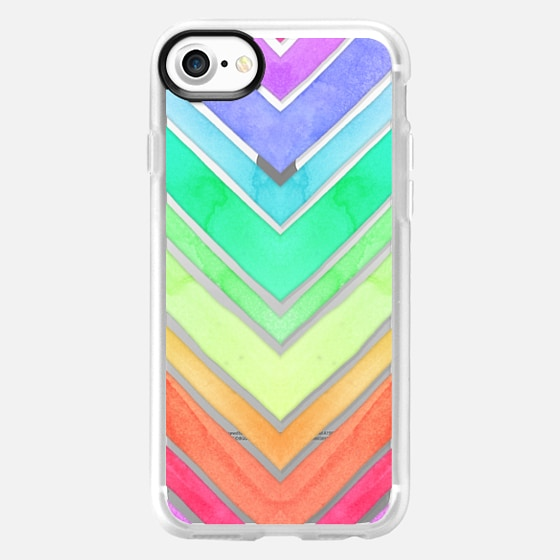 Rainbow Watercolor Chevron - Wallet Case