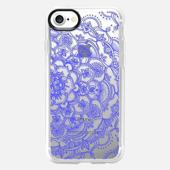 Purple Lace on Crystal Transparent - Wallet Case