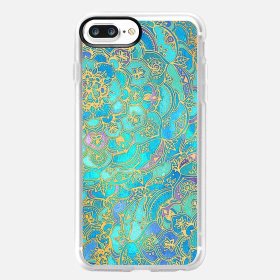 Sapphire & Jade Stained Glass Mandalas -