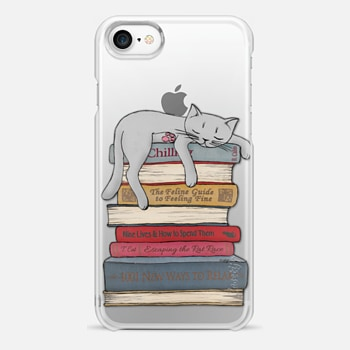 iPhone 7 Case How to chill like a cat - transparent