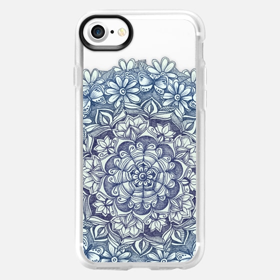 Indigo Medallion with Butterflies & Daisy Chains - transparent - Wallet Case