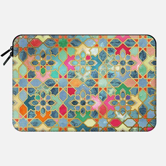 Gilt & Glory - Colorful Moroccan Mosaic - Macbook Sleeve