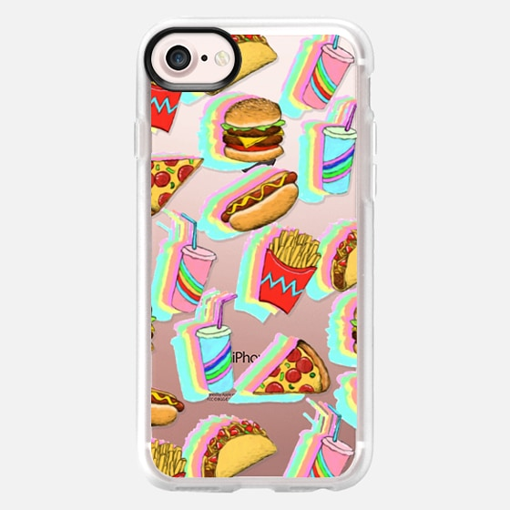 Rainbow Fast Food Fun on Clear - Wallet Case