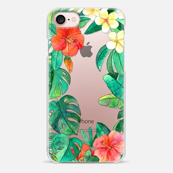 iPhone 7 Case Paradise Garden on transparent