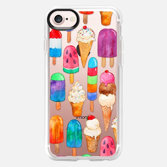 Watercolor Summer Ice Creams - transparent - Wallet Case
