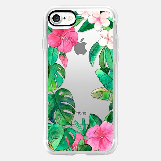 Pink Hibiscus & Plumeria - transparent -
