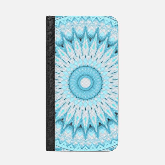 Soft Turquoise Mandala - Wallet Case