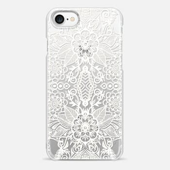 iPhone 7 Case Double Bloom - White Lace Mirrored Doodle