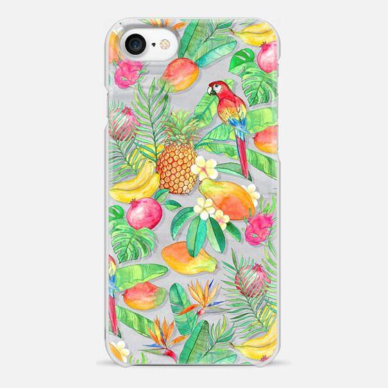 Tropical Paradise Fruit & Parrot Pattern - Snap Case