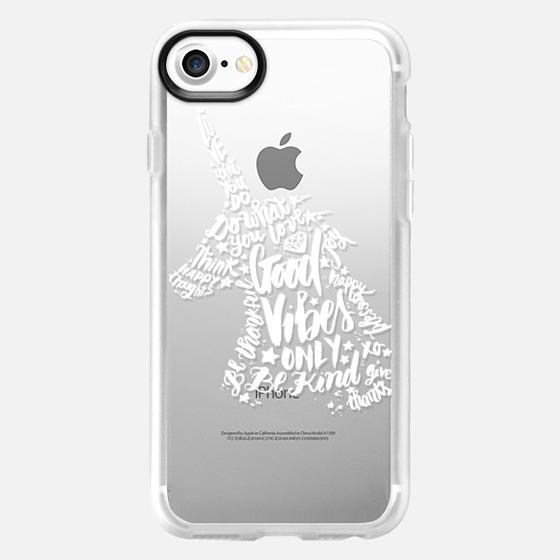 Good Vibes White Unicorn Plus - Wallet Case