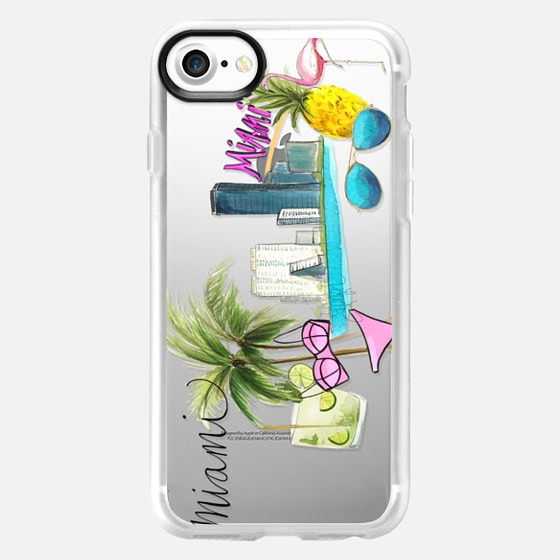 Miami Whimsy (Transparent) - Wallet Case