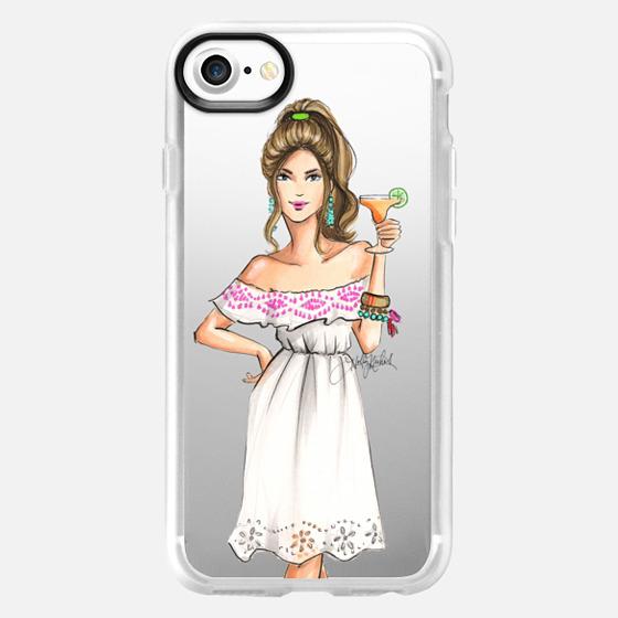 Lola (Margarita Girl Fashion Illustration Transparent Case) -