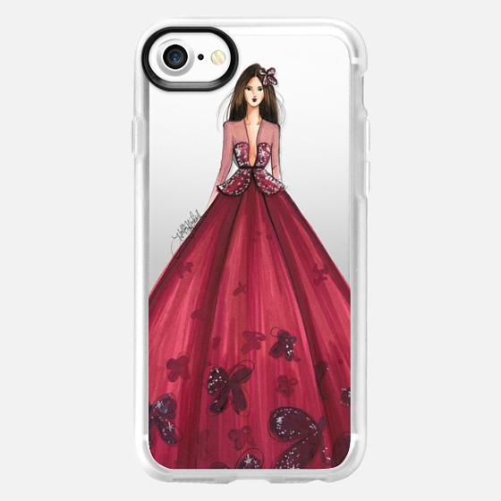 Merlot (Couture Fashion Illustration Transparent Phone Case) - Wallet Case