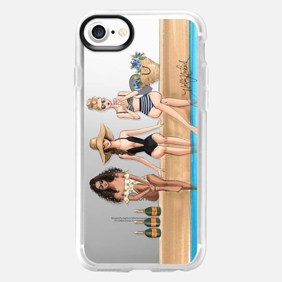 The Weekenders (Fashion Illustration Transparent Phone Case) - Wallet Case