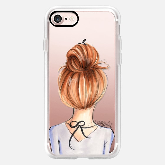 Mix and Match BFF Cases, Redhead Left Side (Fashion Transparent Phone Case) -