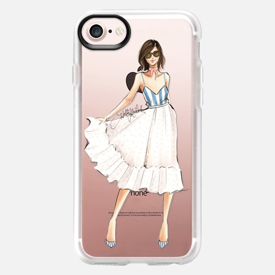 Leila (Fashion Illustration Girl Transparent Case) - Classic Grip Case