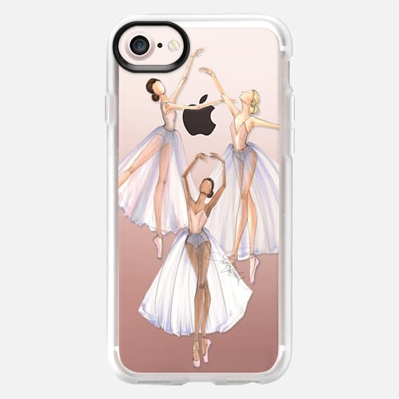 Ballet Dancer Trio (Fashion Illustration Transparent Case) -