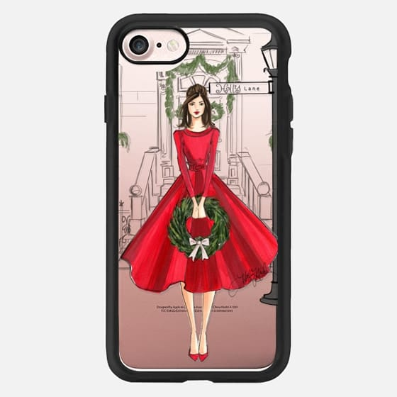 Holly Lane (Holiday/Christmas Fashion Illustration Case, Brunette) -
