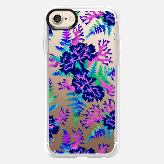 Coral Carnation - Blue/Purple/Clear - Wallet Case