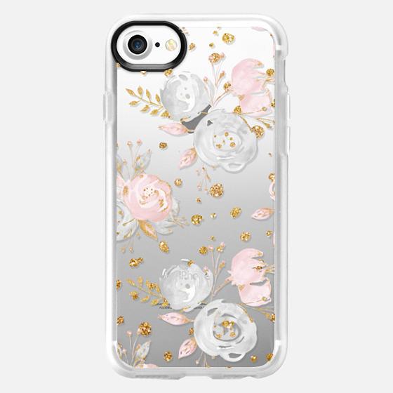 Blush Peonies Wedding Flowers Romantic Spring Pattern - Classic Grip Case
