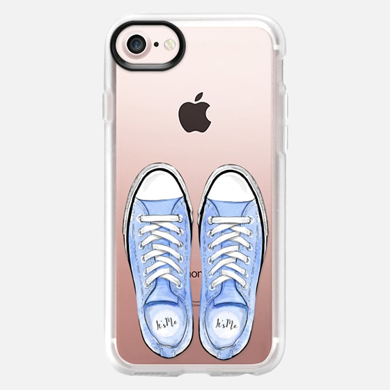 Blue Sport Shoes Summer Fashion City Girl Beach Holiday - Classic Grip Case