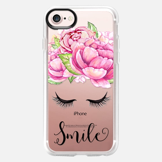 Smile - Spring Flowers Summer Floral Fashion Case - Classic Grip Case