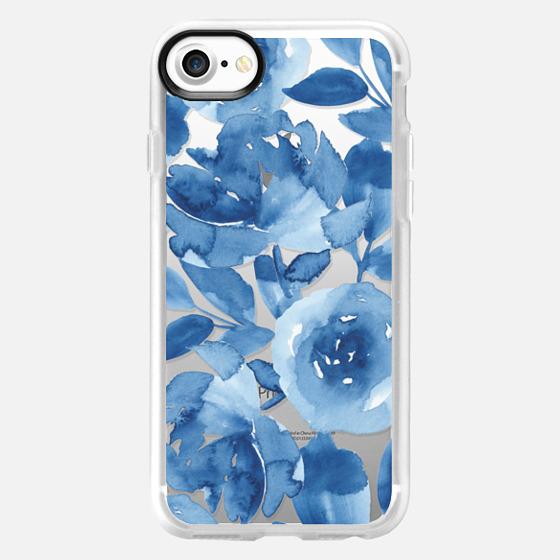 Blue Watercolor Flowers - Classic Grip Case