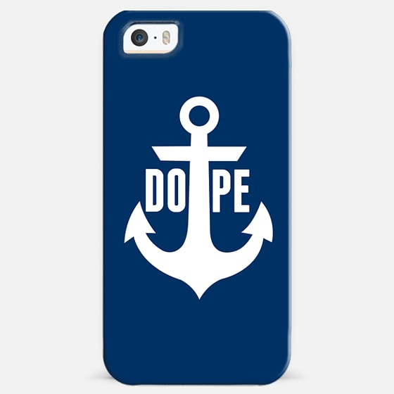 Nautical Anchor Cool Dope Navy Blue White -