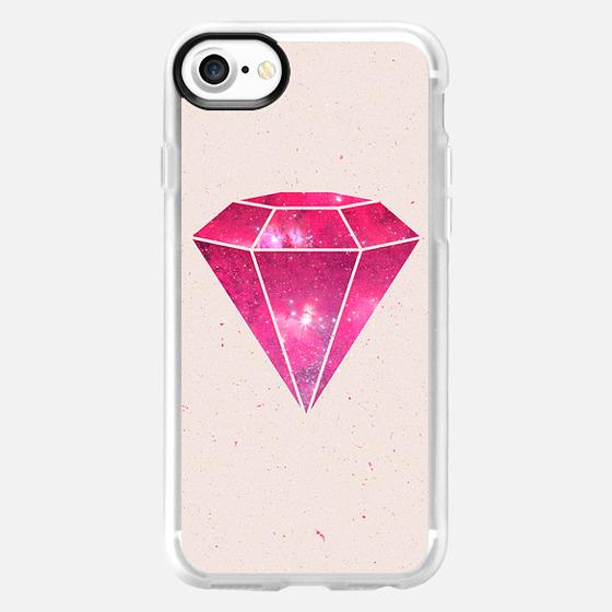 Trendy Pink Diamond Girly Nebula Galaxy - Wallet Case