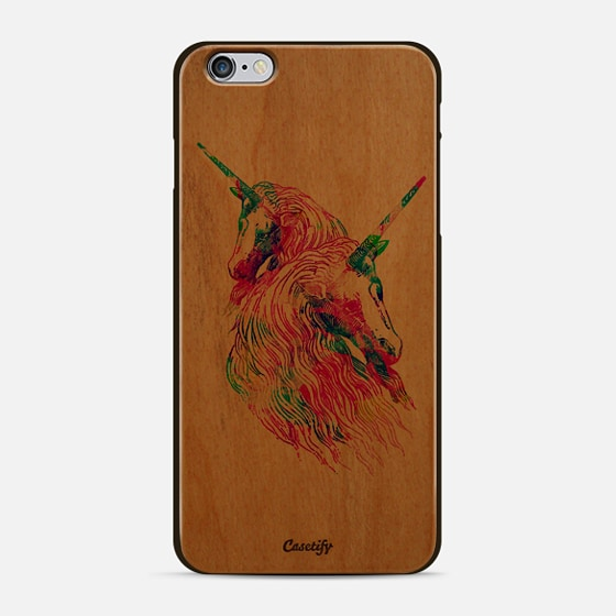 Watercolor Unicorns Abstract Rainbow Neon Colors - New Standard Case