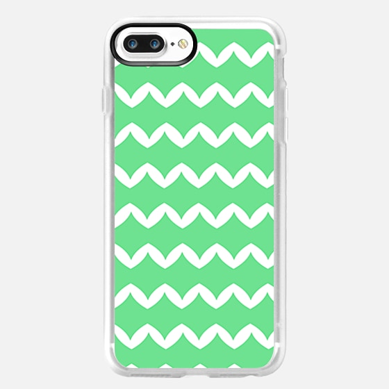 Girly Modern Chevron Abstract Mint Green Pattern -