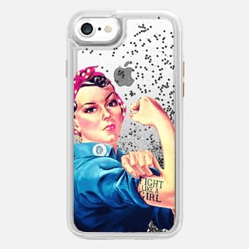 iPhone 7 Case Fight Like A Girl Rosie The Riveter Girly Mod Pink