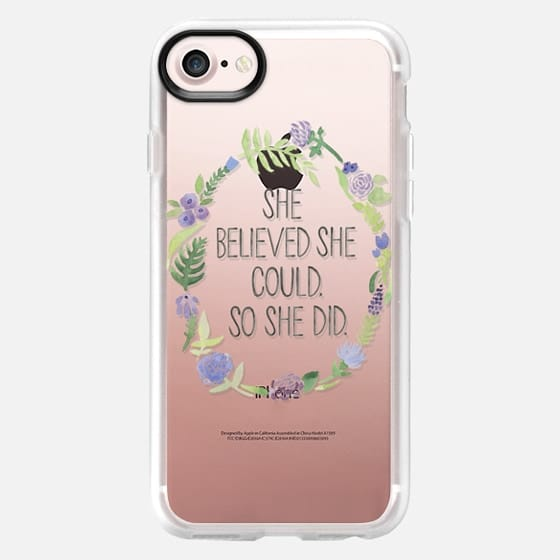 SHE BELIEVED SHE COULD (TRANSPARENT) - Snap Case